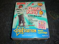 New Fisher Price Star Station Dance Party 6 Cartridge
