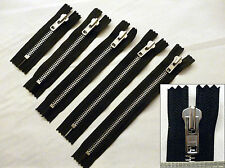 "Zip 7/""//18cm Closed End,Metal YKK Heavyweight Zipper Black Oxy on Black"