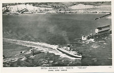 Shipping British Railways TSS INVICTA leaving Dover Aerial RP PPC