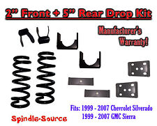 "1999 - 2007 Chevrolet Silverado / GMC Sierra 1500 V6 2"" / 5"" Lowering Drop kit"