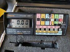 Simpson 467 True Rms Digital Multimeter Digalog Display Case Leads 10a Shunt