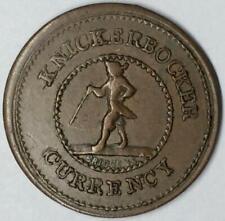 1863 Civil War Token Emb Knickerbocker Currency Bridgen'S Good For 1 Cent
