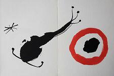 MIRO LITHOGRAPH w/COA. unique gift of AWESOME Joan Miró 1962 litógrafo. RARE ART