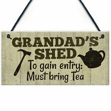 Grandad's Shed Plaque Garden Shed Summer House Sign Dad Fathers Day Gift For Him