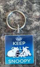 Snoopy - Keep calm and Love snoopy Keyring