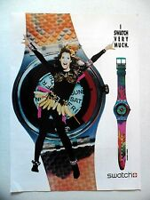 PUBLICITE-ADVERTISING :  SWATCH  Passion Flower  1990 Montres