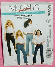 Uncut McCalls Palmer/Pletsch Women Plus Sz 18-24W Perfect Jean Pant Pattern 5894