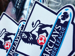 ENGLISH PREMIER LEAGUE 2013-16 SLEEVE BADGES (PAIR) REPLICA SIZE SPORTING ID.