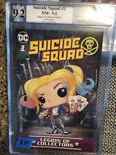 Suicide Squad #1 PGX 9.2 Funko DC Legion Of Collectors Edition!