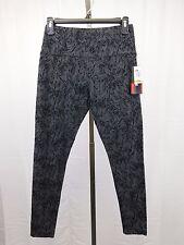 Style & Co Petite Active Wear Printed Yoga Pants, Leggings Black, Grey PS #4666