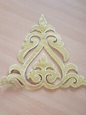 metallic gold embroidery patch lace applique motif dress irish dance costume