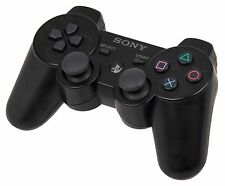 Sony PlayStation 3 PS3 3 controller Dual Shock Wireless Gamepad-Nero-UK STOCK