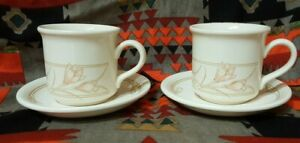 VINTAGE BILTONS COLOROLL ENGLAND SPRING BOUQUET PAIR CUPS AND SAUCERS