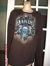 DAKINE BROWN LONG SLEEVE T-SHIRT 100% COTTON SIZE XL