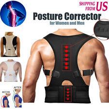 Back Posture Corrector Support Lumbar Magnetic Shoulder Brace Belt For Men Women