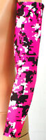 PAIR Hot Pink Neon Digital Camo Arm Sleeves Sleeve Football Baseball Basketball