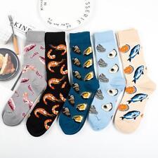 Adult Size Crew Fresh Seafood Socks Ocean Shrimps Fishes Shells Socks