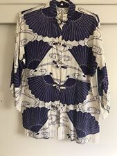 Asian Chinese Women Top S Button Up  3/4 Sleeves Ethnic Tv Film Wardrobe