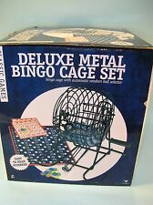 Deluxe Metal Bingo Cage Set with automatic ball selector