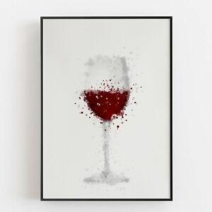 P0084 | Wine Glass Red | Wall Art Print | Poster | Liquor | Bar | Restaurant
