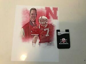 Scott Frost 8x10 Nebraska Football edit and Blackshirts Cell Phone Card Holder