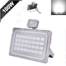 1 X 100W LED Flood Light PIR Motion Sensor Spot Outdoor Security Lamp Cool White