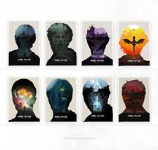 Juego Completo De Harry Potter X 8 impresiones carteles por Simon Fairhurst #/75 NT Mondo