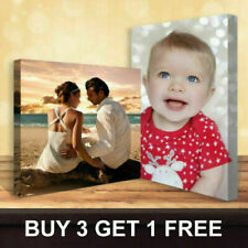More details for personalised photo on canvas print framed a0 a1 a2 a3 a4 a5 ready to hang