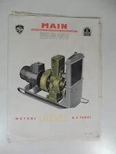 Main. Motori diesel a 4 tempi. Listino dei prezzi dei motori marini universali