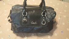 Coach Ashley F15440 Signature Sateen Black Large 2/Way Satchel Great condition.