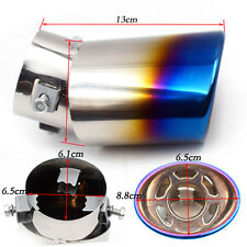 SUV Slant Burnt Titanium Curved S.S Exhaust Tail Pipes Muffler Tips Popular