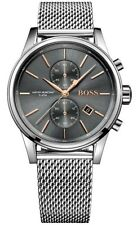 Hugo Boss HB1513440 JET Men's 40mm Grey Dial Chronograph Designer Wrist Watch