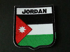 BACKPACKERS NATIONAL COUNTRY SHIELD FLAG SEW/IRON ON PATCH:- JORDAN