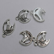 12pcs Antique silver plated horse head charm pendant T0109