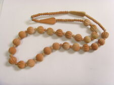 Terracotta Beads Necklace Retro Fv1461 1950S Vintage Designer Hand Made Backed