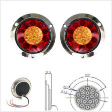 2 Pcs DC12V 16LED Car Trailer Backup Reverse Lamps Turn Signal Lights Red+Yellow