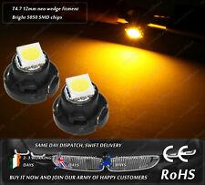 LED T4.7 Neo Wedge 12mm Amber Dashboard Clocks Speedo Interior Bulbs Lamps 12v