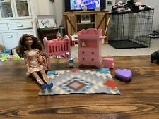 2009 Barbie With Baby And Furniture And Accessories