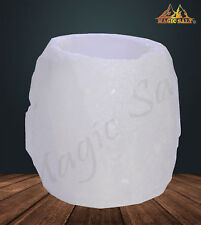 HIMALAYAN CRYSTAL ROCK SALT CANDLE TEA LIGHT HOLDER 100% NATURAL Best Gift