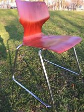Mid Century Modern Pagholz FLOTOTTO Bent Plywood Pagwood Chair - W. Germany