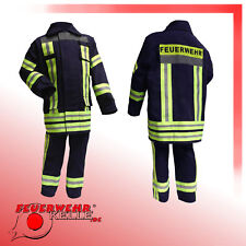 Feuerwehrkostüm Feuerwehr Kostüm Feuerwehrmann Kinder Feuerwehranzug blau