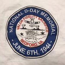 The National D-Day Memorial Bedford, Virginia White Cotton T-Shirt Mens XL (TS2)