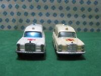 "Vintage Matchbox  -  Coppia MERCEDES-BENZ  ""Binz Ambulance"" - 1/43"