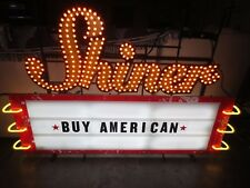 *Huge* Shiner Beer Neon / Led Marquee Billboard Sign / Bar Light lone star pearl