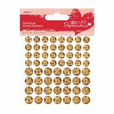 Papermania Shimmer Dome Stickers - Gold