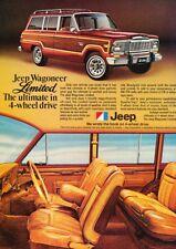 1979 Jeep Wagoneer Limited Grand Original Advertisement Print Art Car Ad J903