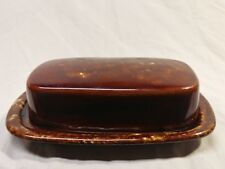 Brown Stoneware Butter Dish Tray Lid