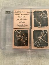 Stampin Up All I Have Seen Set Of 4 Wood Mounted Rubber Stamp Su Scrapbook 2005