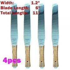 4pcslot 6 Stainless Steel Spatula Silk Screen Printing Scoop Ink Wood Handle
