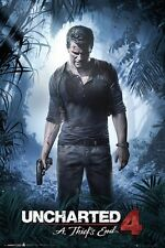 "UNCHARTED 4 POSTER ""LICENSED"" BRAND NEW ""LARGE SIZE 61cm X 91.5cm"" A THIEF'S END"